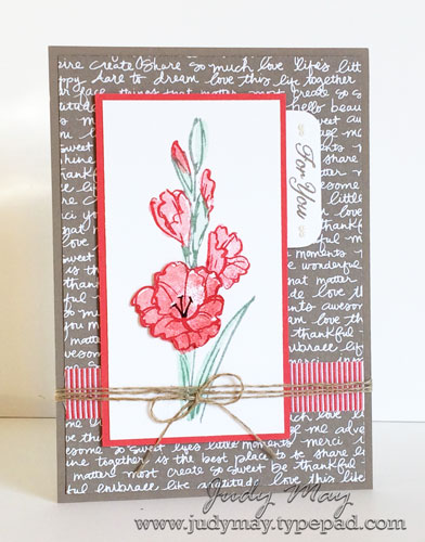 Stampin' Up! Gift of Love with Markers - Judy May, Just Judy Designs