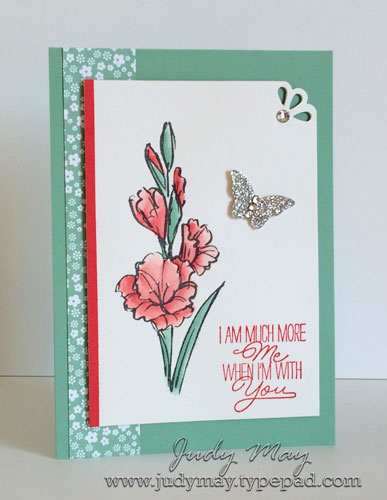 Stampin' Up! Gift of Love Water coloured - Judy May, Just Judy Designs