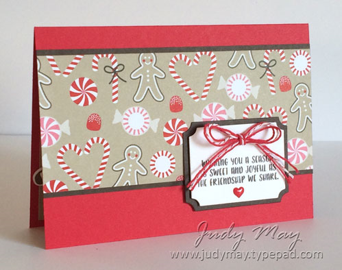 Stampin' Up! Candy Cane Lane DSP & Cookie-Cutter Christmas - Judy May, Just Judy Designs