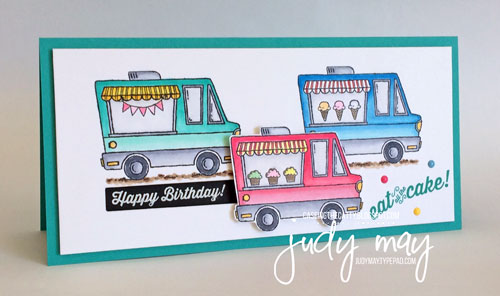 Stampin' Up! Tasty Trucks for CASE-ing the Catty - Judy May, Just Judy Designs