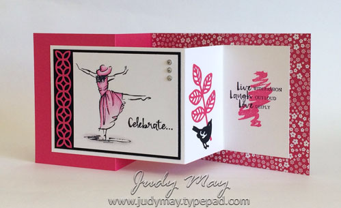 Stampin Up! Beautiful You Double Z Joy Fold - Judy May, Just Judy Designs