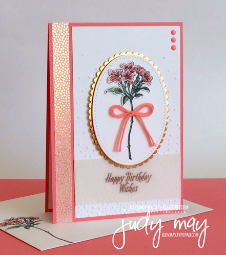 Stampin' Up Sale-a-bration Avant Garden for CASE-ing the Catty - Judy May, Just Judy Designs