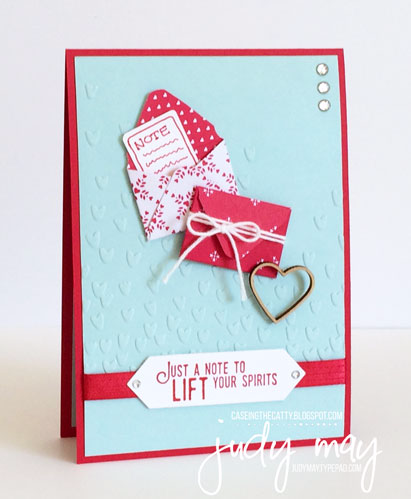 Stampin' Up! Sending Love for CASE-ing the Catty - Judy May, Just Judy Designs