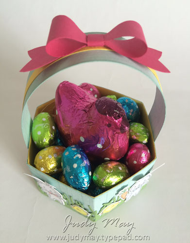 Stampin' Up! Window Box Easter treat Basket - Judy May, Just Judy Designs