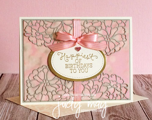 Stampin' Up! So Detailed Thinlits & Birthday Blooms for CASE-ing the Catty - Judy May, Just Judy Designs