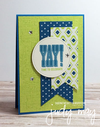 Stampin' Up! Super Duper meets Eastern Palace for CASE-ing the Catty - Judy May, Just Judy Designs