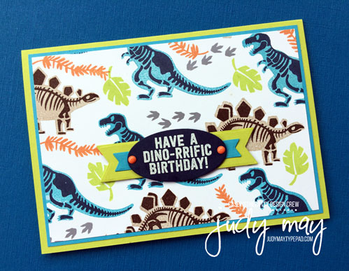 Stampin' Up! No Bones about It for CASE-ing the Catty - Judy May, Just Judy Designs
