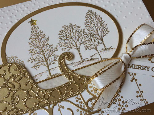 Stampin' Up! Lovely as a Tree & Santa's Sleigh for The Heart of Christmas - Judy May, Just Judy Designs