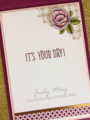 Stampin' Up! Graceful Garden for FMS313 - Judy May, Just Judy Designs