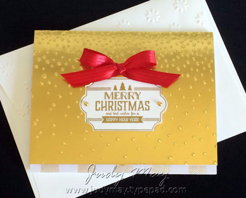 Stampin' Up! Luxe Gift Card Holder - Judy May, Just Judy Designs