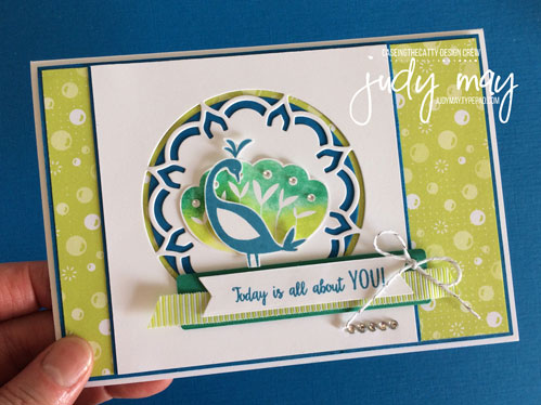 Stampin' Up! Beautiful Peacock - Judy May, Just Judy Designs