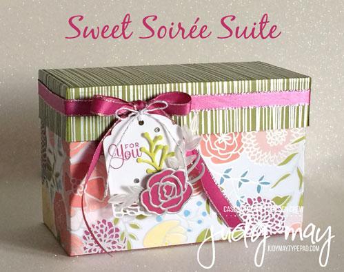 Stampin' Up! Sweet Soiree Gift Box - Judy May, Just Judy Designs