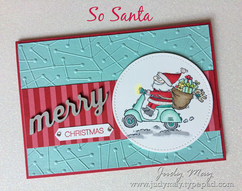 Stampin' Up! So Santa, Maps Etc | Christmas Card Idea - Judy May, Just Judy Designs, Melbourne