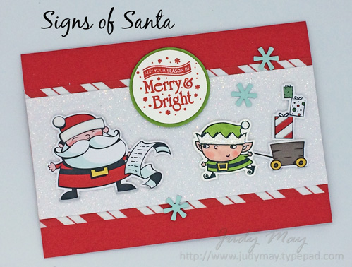 Stampin' Up! Signs of Santa - Judy May, Just Judy Designs, Melbourne