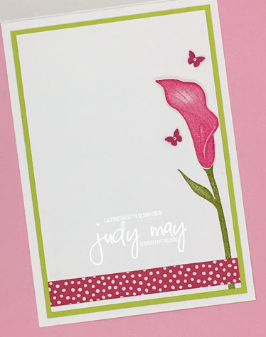 Stampin' Up! Lasting Lily (Sale-a-bration) - Judy May, Judy Designs, Melbourne