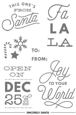 Stampin' Up! Sincerely Santa Stamp Set