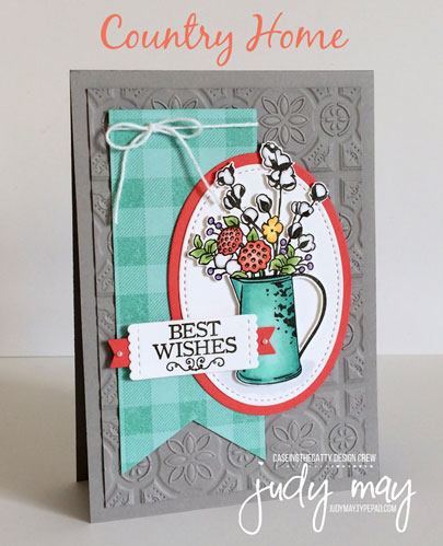 Stampin' Up! Country Home, Buffalo Check & Tin Tile Dynamic TIEF - Judy May, Just Judy Designs