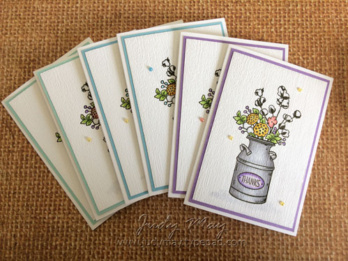 Stampin' Up! Country Home Note Cards - Judy May, Just Judy Designs