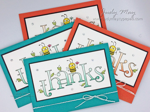 Stampin' Up! - Bee Thankful - Judy May, Just Judy Designs, Melbourne