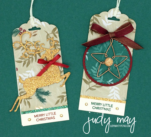 Stampin' Up! Joyous Noel Holiday Tag - Judy May, Just Judy Designs, Melbourne