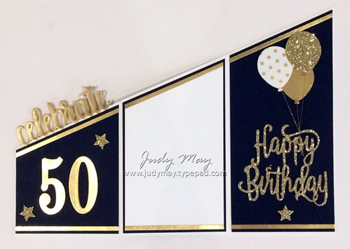 Stampin' Up! Tri-Fold Milestone Birthday Card - Judy May, Just Judy Designs