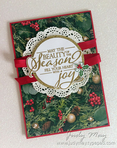 Stampin' Up! All is Bright Designer Paper - Judy May, Just Judy Designs