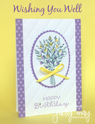 Stampin' Up! Wishing You Well - Judy May, Just Judy Designs