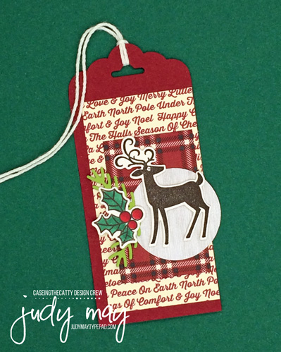 Stampin' Up! Festive Farmhouse Holiday Tag - Judy May, Just Judy Designs, Melbourne