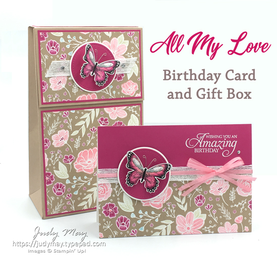 Stampin' Up! All My Love Gift Set - Judy May, Just Judy Designs, Melbourne