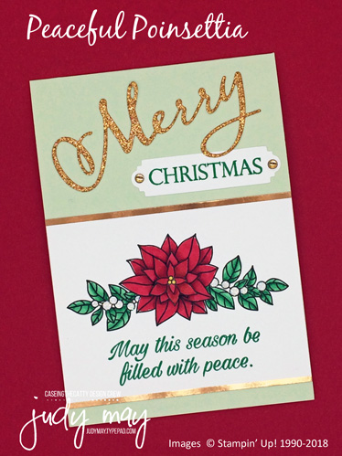 Stampin' Up! Peaceful Poinsettia - Judy May, Just Judy Designs, Melbourne