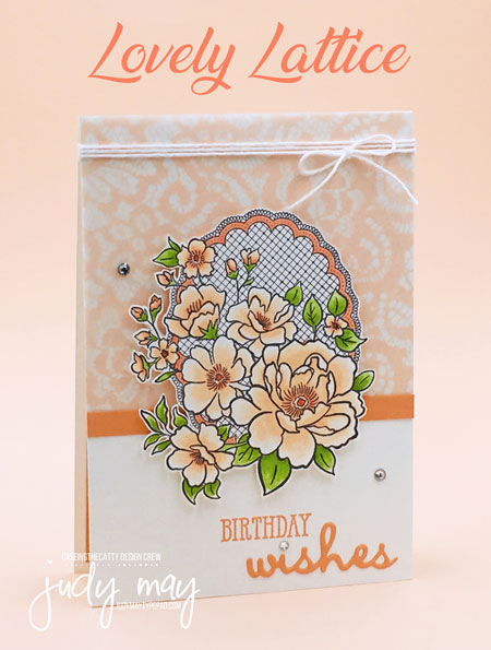 Stampin' Up! Lovely Lattice - Judy May, Just Judy Designs, Melbourne