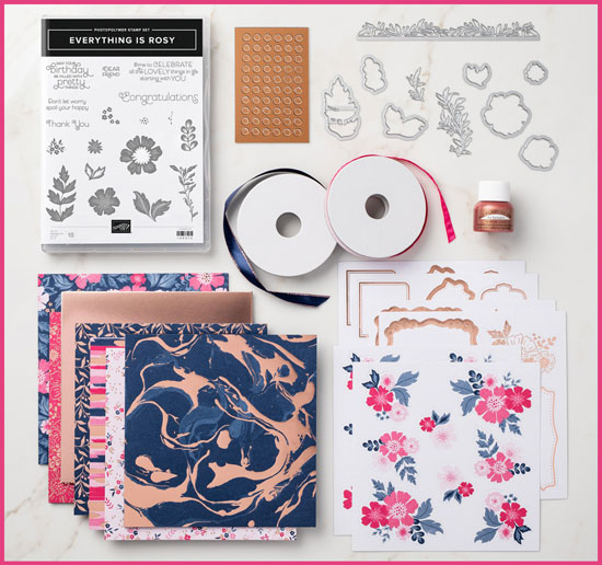 Stampin' Up! Everything is Rosy Product Medley