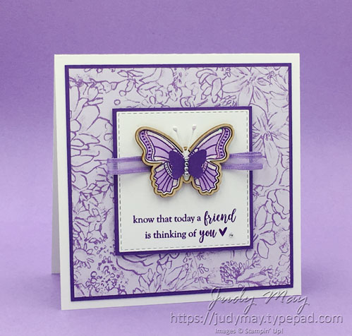 Stampin' Up! Botanical Butterfly DSP, Butterfly Elements & Part Of My Story - Judy May, Just Judy Designs, Melbourne