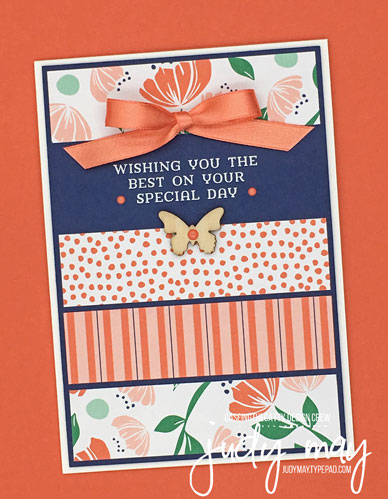 Stampin' Up! Happines Blooms DSP - Judy May, Just Judy Designs, Melbourne