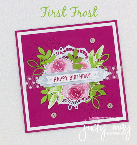 Stampin' Up! First Frost & Needlepoint Elements - Judy May, Just Judy Designs, Melbourne