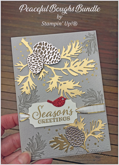 Stampin' Up! Peaceful Boughs Bundle - Judy May, Just Judy Designs, Melbourne