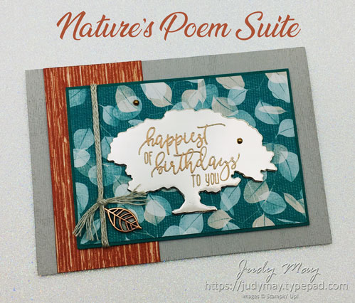 Stampin' Up! Nature's Poem Suite - Judy May, Just Judy Designs, Melbourne