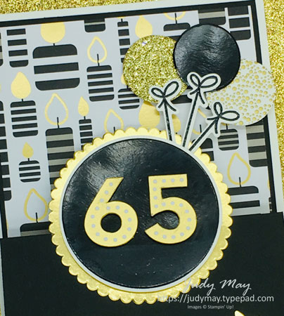 Stampin' Up! Broadway Birthday Double Easel Fancy Fold - Judy May, Just Judy Designs, Melbourne