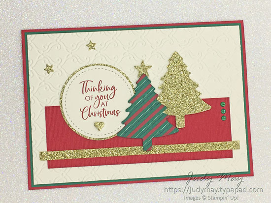 Stampin' Up! Wrapped in Plaid & Pine Tree Punch - Judy May, Just Judy Designs, Melbourne