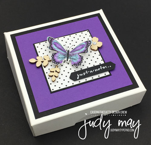 Stampin' Up! Botanical Butterfly DSP, Butterfly Elements, Note Card Set - Judy May, Just Judy Designs, Melbourne