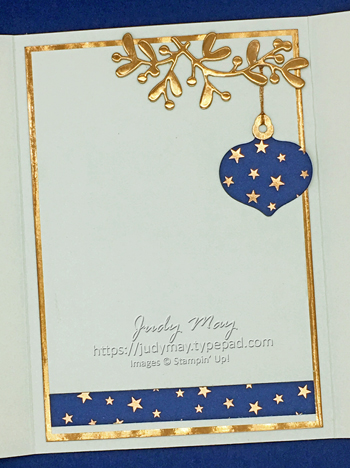 Stampin' Up! Brightly Gleaming Suite Interlocking Gatefold Card - Judy May, Just Judy Designs, Melbourne