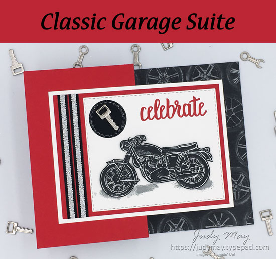 Stampin' Up! Classic Garage Suite | Milestone Birthday - Judy May, Just Judy Designs, Melbourne