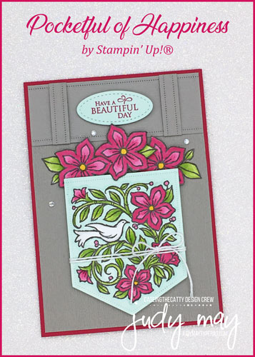 Stampin' Up! Pocketful of Happiness - Judy May, Just Judy Designs, Melbourne