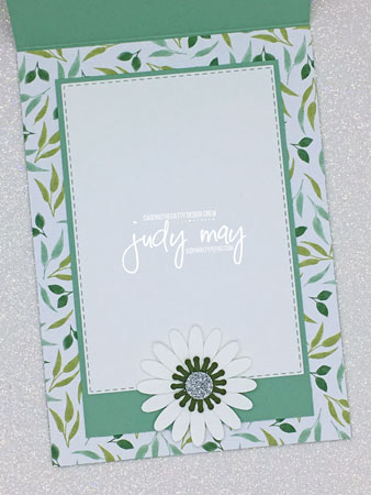 Stampin' Up! Garden Lane DSP, Daisy Punches - Judy May, Just Judy Designs, Melbourne