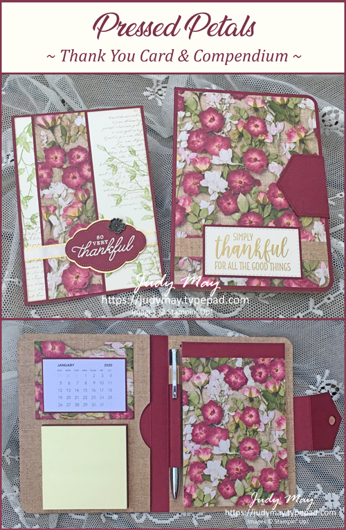 Stampin' Up! Pressed Petals DSP, Very Versailles - Judy May, Just Judy Designs, Melbourne