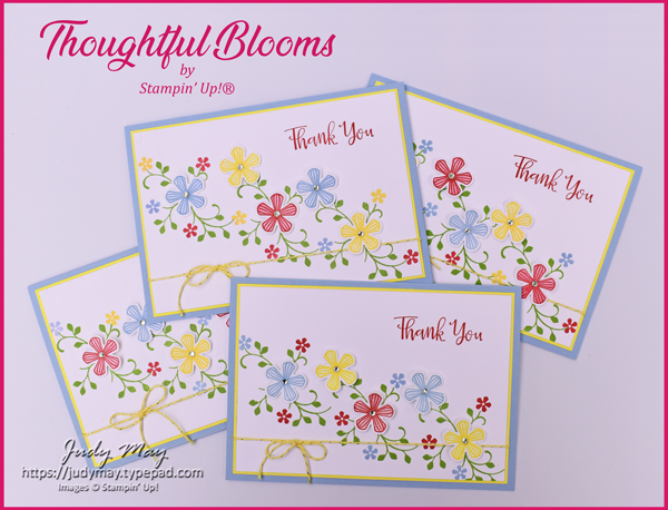 Stampin' Up! Thoughtful Blooms & Small Bloom Punch - Judy May, Just Judy Designs, Melbourne