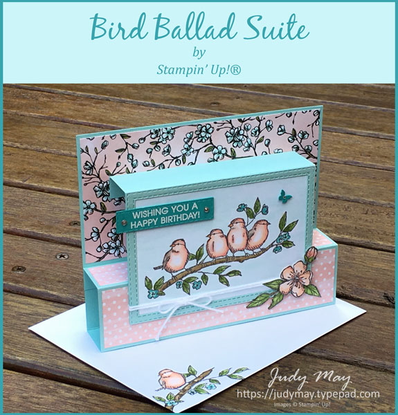 Stampin' Up! Bird Ballad Suite Fancy Fold - Judy May, Just Judy Designs, Melbourne