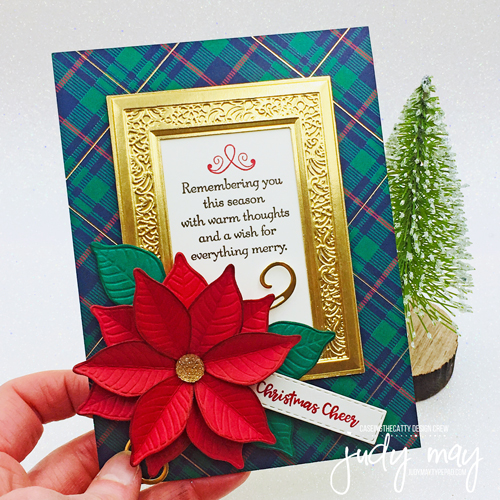 Stampin' Up! Wrapped In Plaid Poinsettia - Judy May, Just Judy Designs, Melbourne