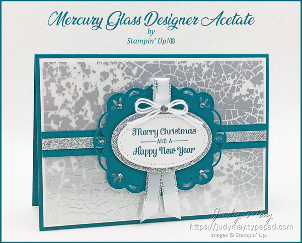Stampin' Up! Mercury Glass Acetate & Itty Bitty Christmas - Judy May, Just Judy Designs, Melbourne