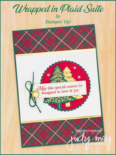 Stampin' Up! Wrapped in Plaid Suite - Judy May, Just Judy Designs, Melbourne